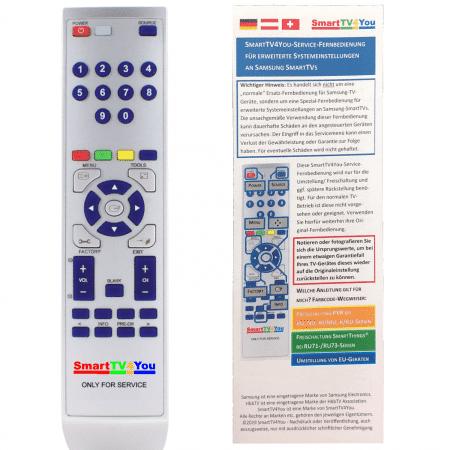 SmartTV4You Service Fernbedienung kompatibel für Samsung
